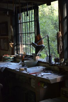 Soft light workspace.