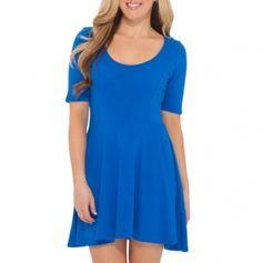 Scoop Neck A-Line Dress