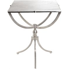 Share and Save $5 Off Any Order Over $99. (excludes a few products) Go Home Ltd Art Deco Nickel Square Side Table w/ Marble Top #dynamichome