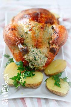 ChilliBite.pl - motywuje do gotowania!: Doskonały kurczak pieczony po polsku Polish Recipes, Polish Food, Baked Potato, Roast, Recipies, Food Porn, Food And Drink, Cooking Recipes, Chicken