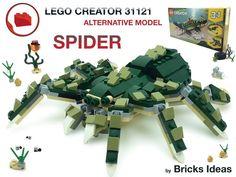 Lego Creator, The Creator, Big Spiders, Lego Models, Bricks, Alternative, Ideas, Brick, Thoughts