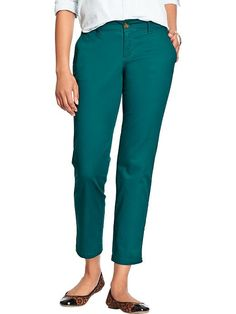 Rock out in teal boyfriend skinny khakis (I own these but idk what to wear with them yet)