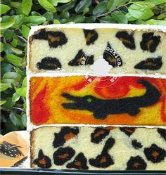 Inside Surprise Leopard Pattern Cake.