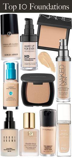 Top 10 Makeup Foundations