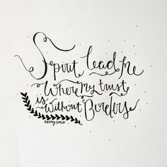 Trust without borders. #calligraphy #truth #quote