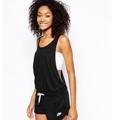 Nike black playsuit