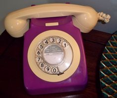 My purple telephone. My husband bought this for me at a little antique shop.