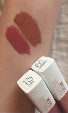 Maybelline Superstay Matte Ink in the shades- 15 Lover and 65 Seductress – … Maybelline Superstay Matte Ink in the shades- 15 Lover and 65 Seductress – … – Makeup Swatches, Makeup Dupes, Skin Makeup, Makeup Lipstick, Makeup Brushes, Lipstick Shades, Makeup Haul, Elf Makeup, Lipstick Swatches