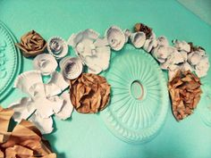diy paper plate flowers and pretty home office