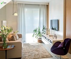 Sala de estar aconhegante com decoração simples e requintada