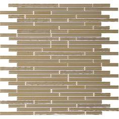 Daltile Opulence Glass Mosaic - OP10 Sandstone Walnut - Random Linear Glass Tile Mosaic