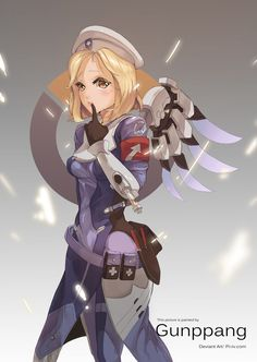 Mercy (With line) by gunppang.deviantart.com on @DeviantArt