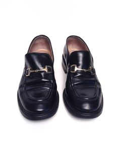 Gucci Black Leather Loafers Size 38.5/8.5
