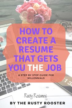 Are you ready for that next chapter in your life? Creating a resume can seem daunting for millennials, but Rusty Resumes shows you how to create a fully customizeable resume in minutes. The educational online course helps you prepare for interviews and ha Resume Skills, Job Resume, Resume Tips, Job Search Tips, Career Search, Job Interview Tips, Interview Questions, Cover Letter For Resume, Cover Letters