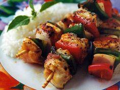 Platos Latinos, Blog de Recetas, Receta de Cocina Tipica, Comida Tipica, Postres Latinos: Cocina para Diabeticos, Recetas de Brochetas de Pollo Maceradas