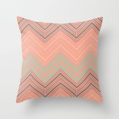 Soft Chevron Throw Pillow by The Velvet Owl Design Studio - $20.00