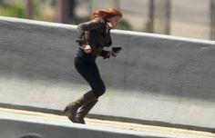 scarlett johannson on set of captain america the winter soldier photos | Scarlett Johansson in Captain America The Winter Soldier 1 New Captain ...