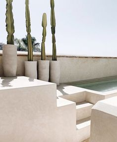 Could You Imagine Staying In This Dreamy Riad in Marrakech? / cactus and pale blue rooftop pool at Riad 42 Exterior Design, Interior And Exterior, Outdoor Spaces, Outdoor Living, Riad Marrakech, Beton Design, Desert Homes, Architecture Design, Minimalism