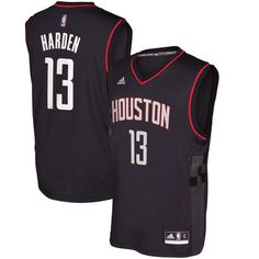b64c23788 James Harden Houston Rockets adidas Alternate Replica Jersey - Black