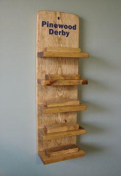 Scout Pinewood Derby Car Display Shelf - One Display Shelf