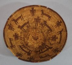 Antique-Original-circa-1900-Western-Native-American-Apache-Indian-Basket-NR
