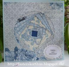 Fasters korthus: Blue Iris folding card