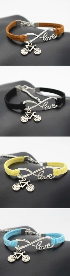 Bicycle Charms Leather Bracelet! Click The Image To Buy It Now or Tag Someone You Want To Buy This For. #Biking