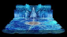 """Virtual (projected) scenery for the ice show """"Snow King"""" by Evgeniy Plushenko. Produced during my time as Art-Director at Sila Sveta. 6000x5455 pixels, 12 (or 14?) projectors, over an hour of content. More here - https://www.behance.net/gallery/22285093/Snow-King"""