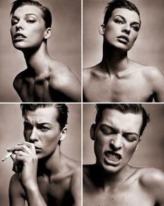 WOAH. I don't usually like Mila Jovovich that much either, but these photos are beauuutiful (collarbones) and sooo trendy! I wanna do a set like this.