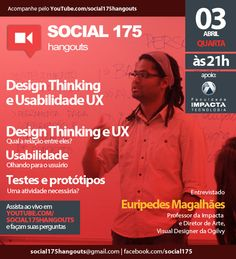 Convidado: Euripedes Magalhães. Tema: Design Thinking. Com Denis Zanini e Sandru Luis. Clique e assista!