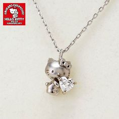 Hello Kitty 40th anniversary Limited New Silver Necklace Pendant Japan Sanrio