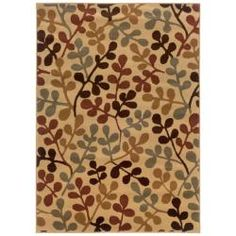 @Overstock - Machine-woven of durable polypropylene, this rug features a vibrant abstract. Rich hues of brown, red, green and gold complete this beige floor rug.http://www.overstock.com/Home-Garden/Beige-Abstract-Rug-82-x-10/5543409/product.html?CID=214117 $197.99