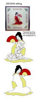 Irisvouwen: Geisha sitting