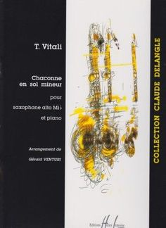 Vitali, T. Chaconne en sol mineur: pour saxophone alto.