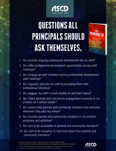How can school leaders inspire excellence from their entire school community? Here are 10 questions every principal should as themselves. Learn more from the book, The Principal 50: Critical Leadership Questions for Inspiring Schoolwide Excellence. #schools #leadership