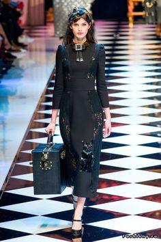 Dolce & Gabbana осень-зима 2016-2017: шикарно, ярко, а главное - со вкусом!
