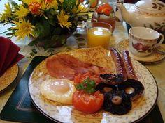 Breakfast at Great Court Farm, Devon