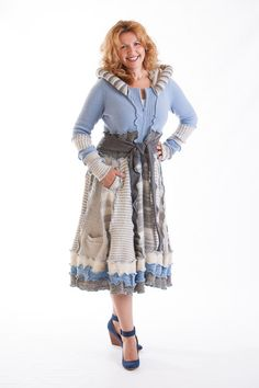 Sweater coat  BABY BLUE by Melinmade on Etsy, $299.00