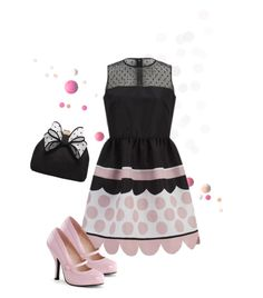 """I think I am seeing spots before my eyes"" by hokie-engineer-grl ❤ liked on Polyvore featuring RED Valentino and Miss KG"