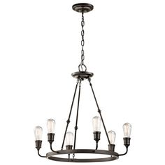 Kichler Lighting Lucien Collection 6-light Olde Bronze Chandelier - 20143753 - Overstock.com Shopping - Great Deals on Kichler Lighting Chandeliers & Pendants