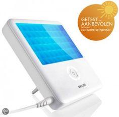 Daglichtlamp Philips. Door te klikken op het plaatje komt u bij het blog over lichttherapie en daglichtlampen.