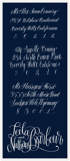 The Inspired Bride › Lovely Letters: Calligraphy by Anne Elser Design
