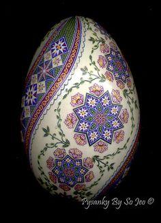 Nfac Ring Around The Rosie Pysanka Pysanky Ukrainian Easter Egg Batik EBSQ Sojeo | eBay