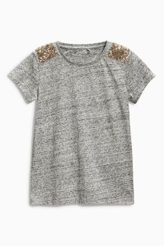 Buy Sequin Shoulder T-Shirt (3-16yrs) online today at Next: United States of America
