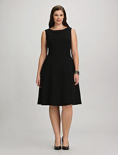 JONES STUDIO Plus Size Crepe A-Line Dress