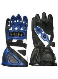 Sports Clothing Men's Blue & Black Leather Gloves