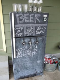 Beer Fridge...who needs a wine cooler???  This will be a requirement on our porch(as soon as that's built lol)