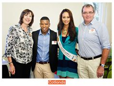 Cotlands ambassados, Loyiso Bala, Miss SA - Marilyn Ramos and 702's David O'Sullivan join Cotlands CEO Jackie Schoeman at the launch of our Braamfontein toy library