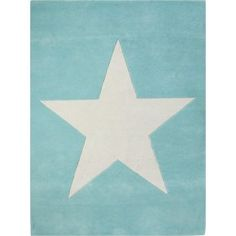 Lorena canals Kid's rug Wool Star Turquoise 140x200 cm