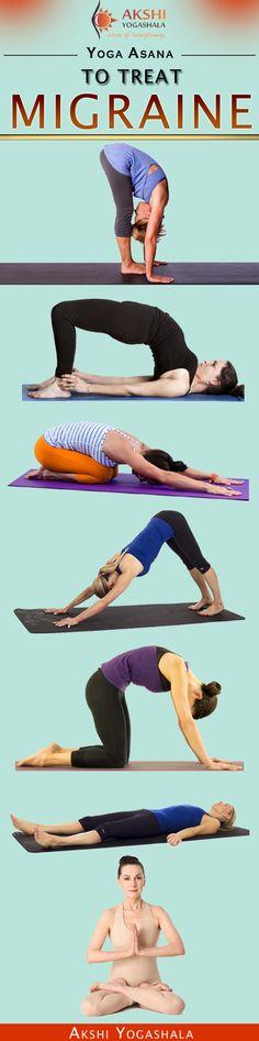 Try these Top 8 Best Yoga Asanas to Treat Migraine Problem. #yoga #migraine #love #life #people #yogaasana #yogaposes #headache #lifestyle #health #fitness